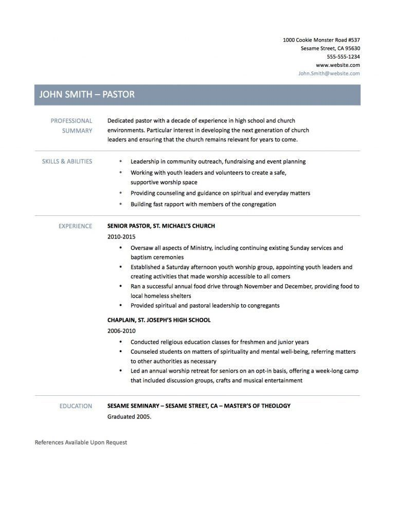 cheerful ministry resume templates 7 pastor resumes resume example