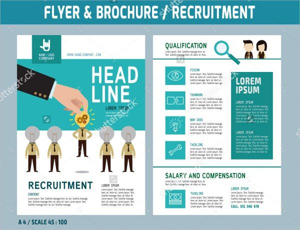 recruiting brochure template staffing recruitment agency flyer ad ...