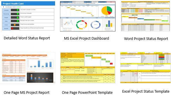 status report template powerpoint - Template