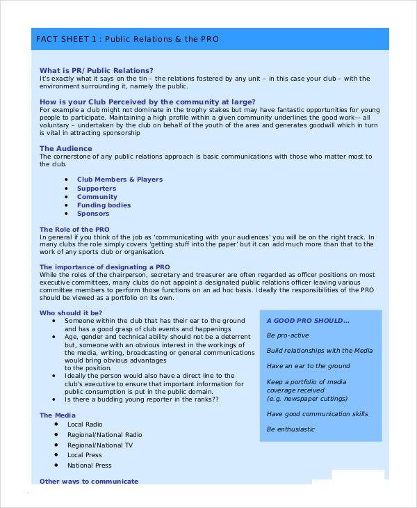 Fact Sheet Template - 10+ Free Sample, Example, Format | Free ...