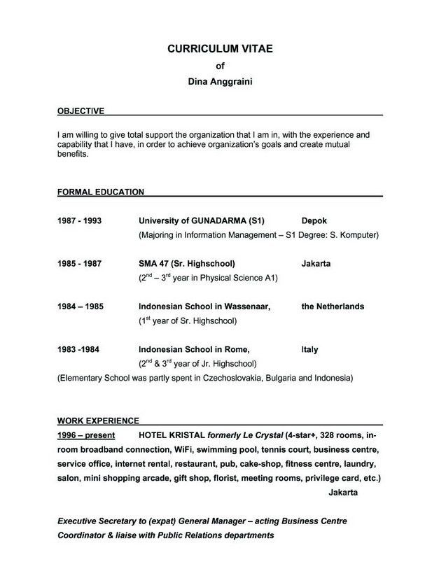 Excellent Idea Good Resume Objectives 6 25 Best Ideas About Resume ...