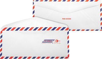 Airmail White #10 Envelopes | Regular | (4 1/8 x 9 1/2 ...
