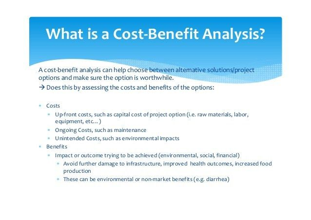 Incorporating Cost‐Benefit Analysis into AF project proposals: Exampl…