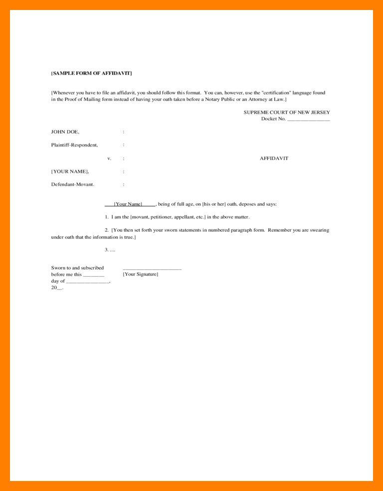 6+ sample affidavit | portfolio covers