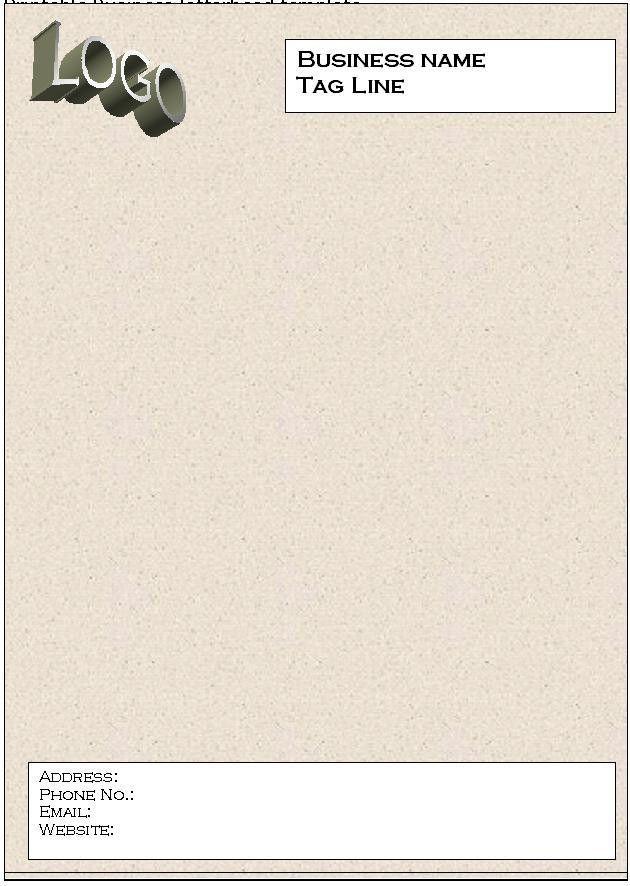 Printable Business Letterhead Template | Sample Business Templates