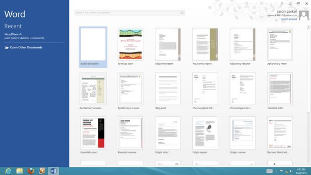 microsoft office 2013 templates - Template