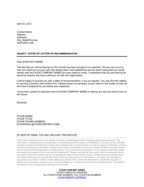 Confirmation of Employment and Letter of Recommendation - Template ...