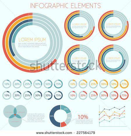 Infographics Pie Chart Design Vector Eps10 Stock Vector 156527381 ...