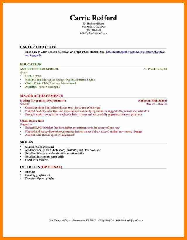 9 high school resume sample no experience job resumed - High School Resume Sample No Experience