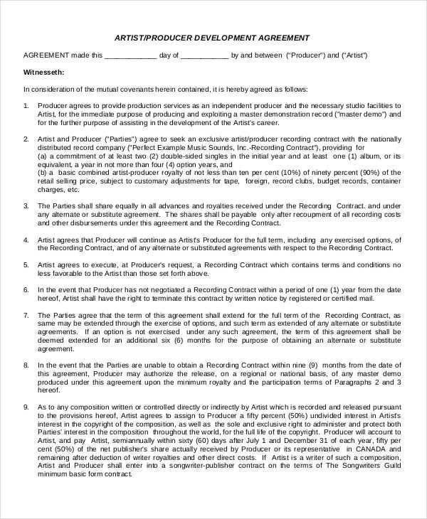 Development Agreement Contract. Municipal Business Development ...