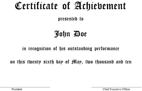 Make an Award Certificate in MS Word