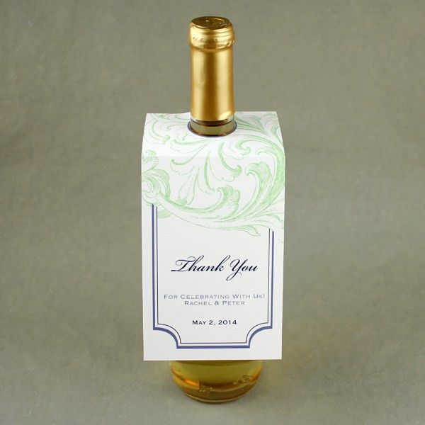 Florid Scroll Wine Bottle Tag Template – Download & Print