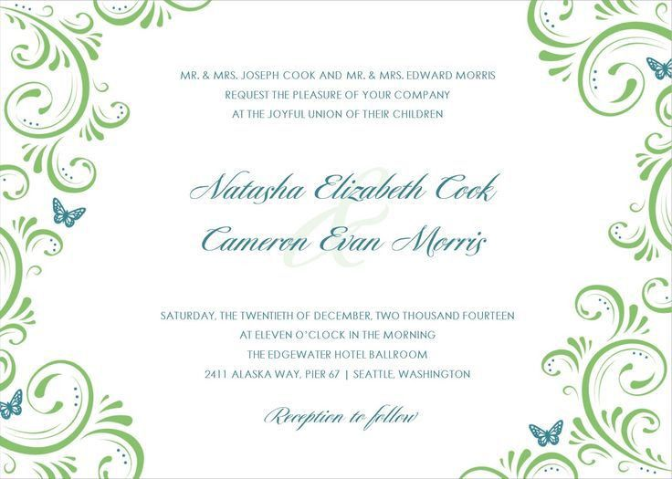 Free Wedding Invitation Cards Templates | Invitation Ideas