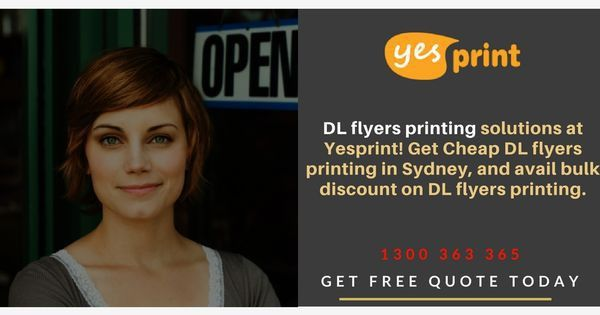 DL flyer printing solution at Yesprint! Gets cheap DL flyer ...