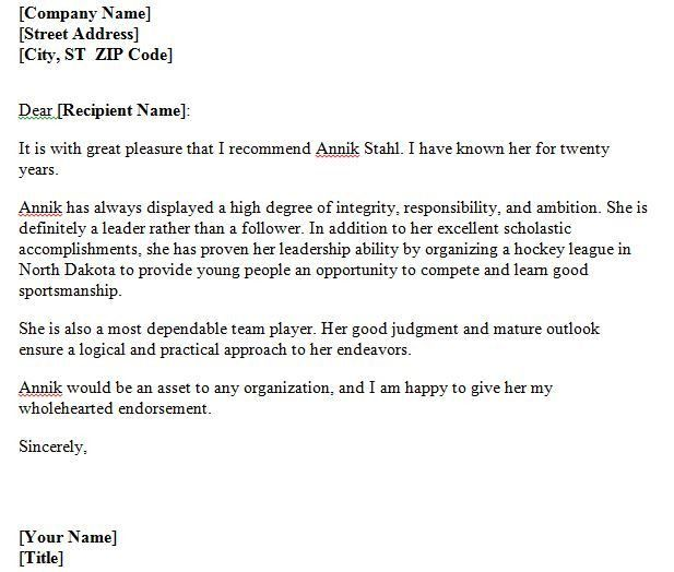 Sample Personal Recommendation Letter For Employment - Shishita ...