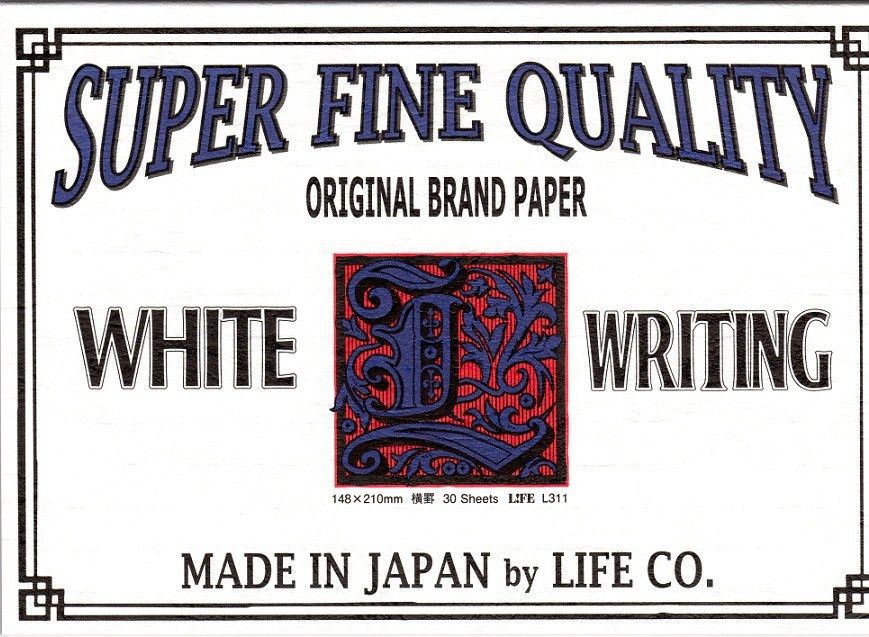 Life 'L brand' label Writing Paper // A5 // Lined | The Journal Shop