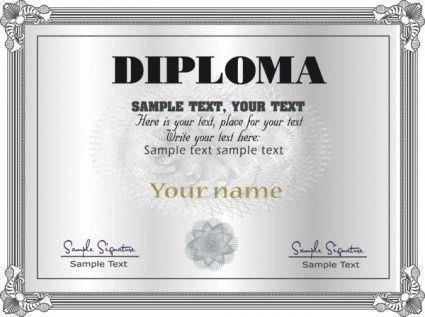 Online Diploma Certificate Templates | Certificate Templates
