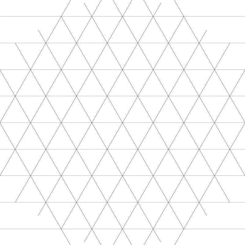 Triangular Graph Paper. Printable Triangular Graph Paper Printable ...