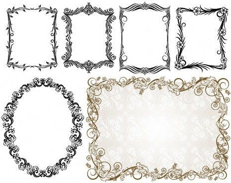 Ornate borders for word free vector download (93,933 Free vector ...