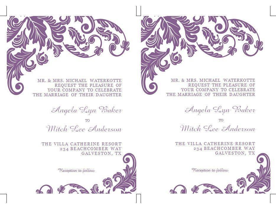 24 Wedding Invitations Templates For Word | Vizio Wedding