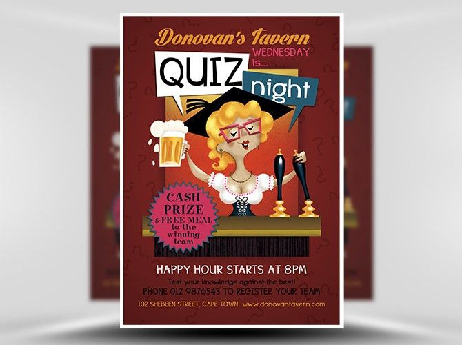 Pub Quiz Flyer Template - FlyerHeroes