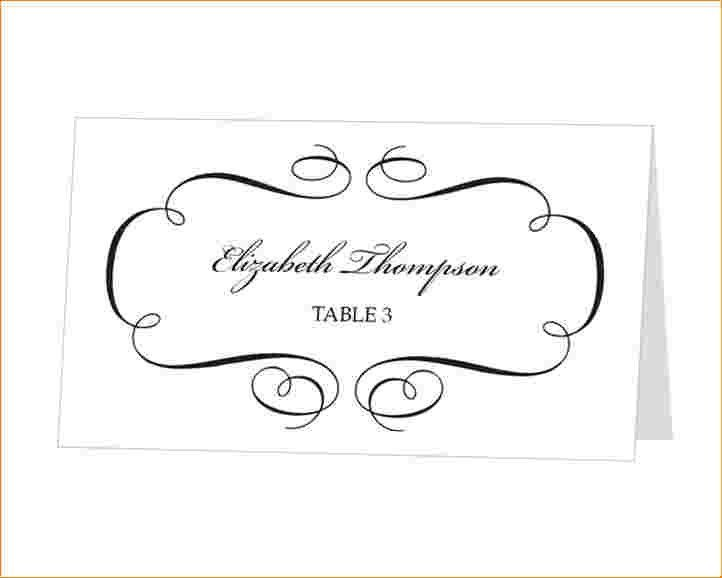 4+ wedding place cards template | Outline Templates