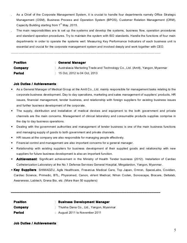 Resume of Dr Aunt Khine MBA 3 2013 MM Revised