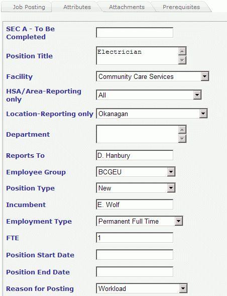 Creating a Job Posting