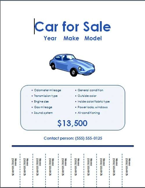 5 Free Car for Sale Flyer Templates - Excel PDF Formats