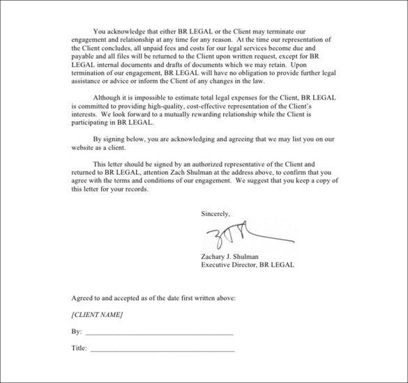 Sample Termination Letters - 8+ Client termination Letters ...