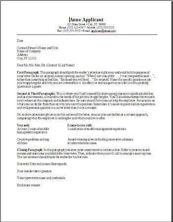 template resume cover letter resume cover letter example template ...