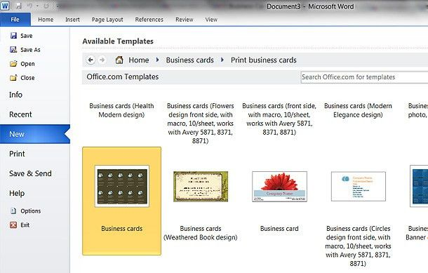 How To: Make A Business Card In Microsoft Word 2010 - Printaholic.com