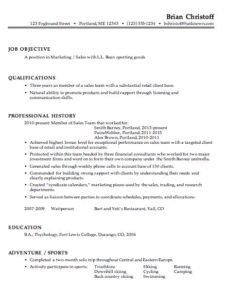 samples of marketing resumes marketing resume template ...