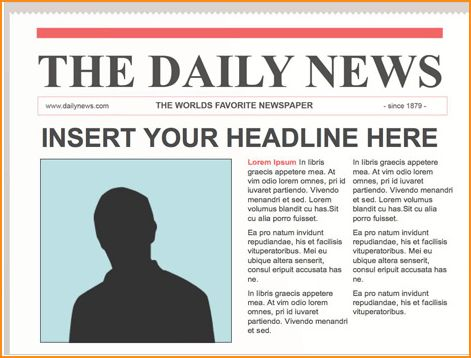 a newspaper article example for students - Basic Job Appication Letter