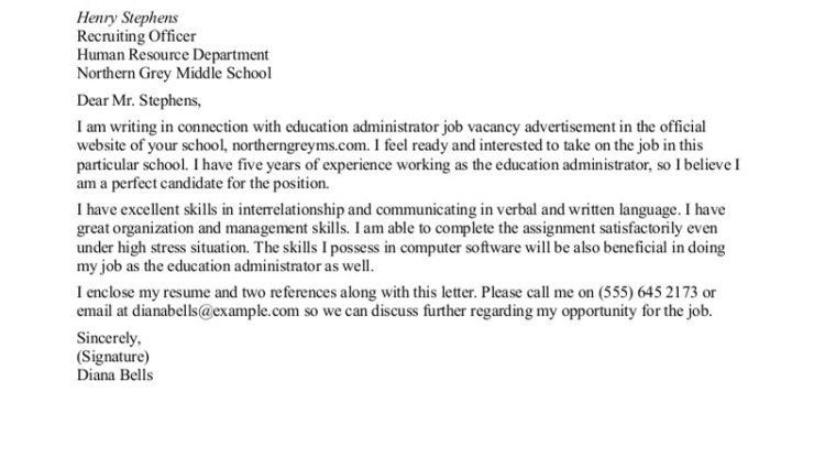free sample cover letter for resume teacher Education ...