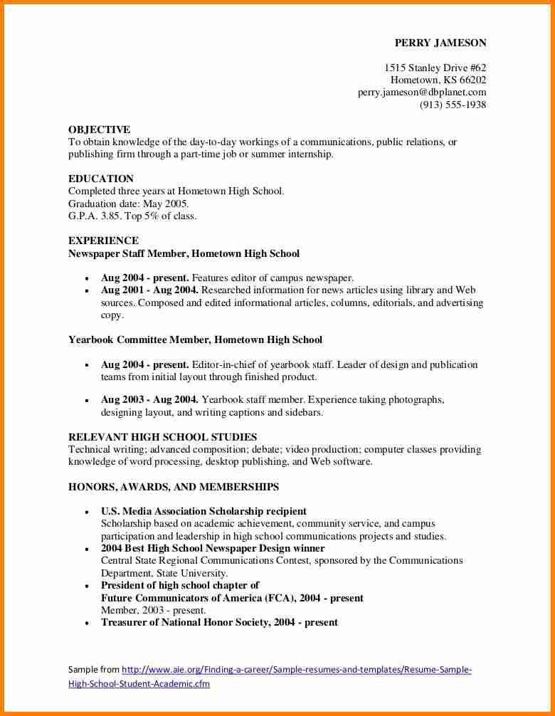 high school resume examples scholarship resume template resume ...