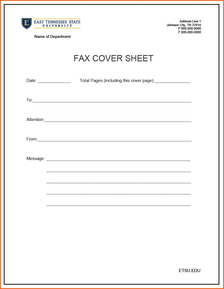 Fax Cover Letter Printable