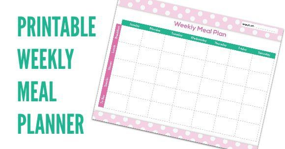 FREE Meal Planning Chart Printable - Coupon Closet