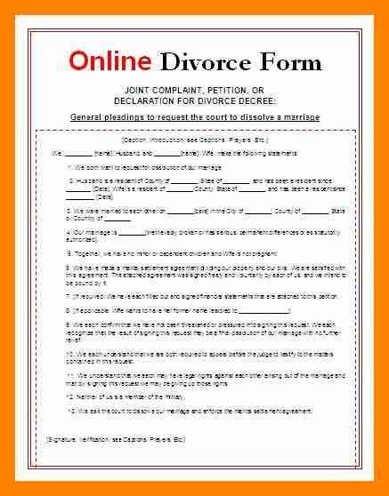 7+ divorce paper sample | resumed job