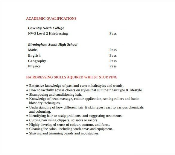 resume tips for esthetician. example hair stylist resumes ...