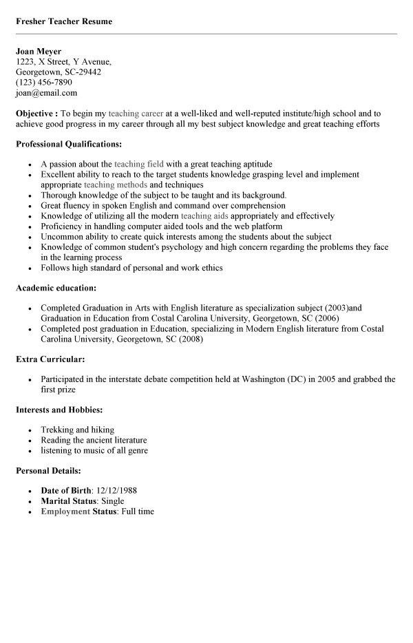 great teacher resumes great teacher resumes best resume and all ...