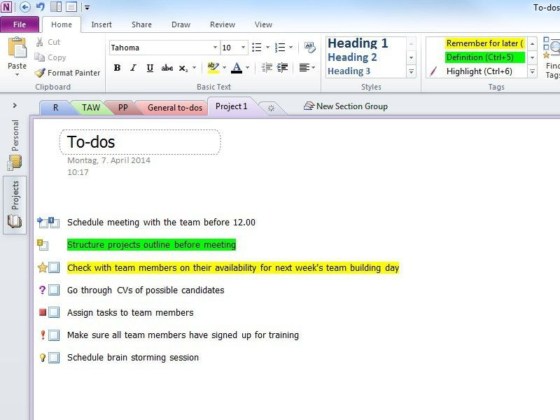 Onenote To Do List Template | free to do list