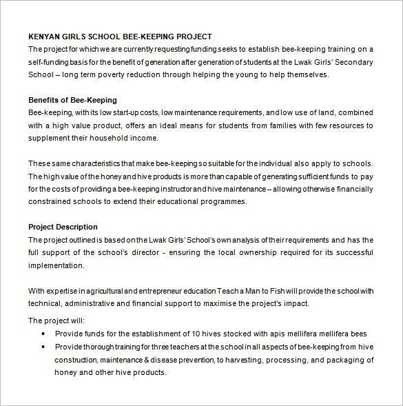 Project Proposal For Funding. 18 Practical Guide To Programme ...