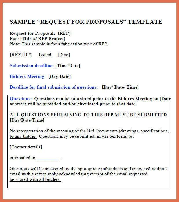 Rfp Response Template. Net Dynasty - Rfp Sample Media Agency Rfp ...