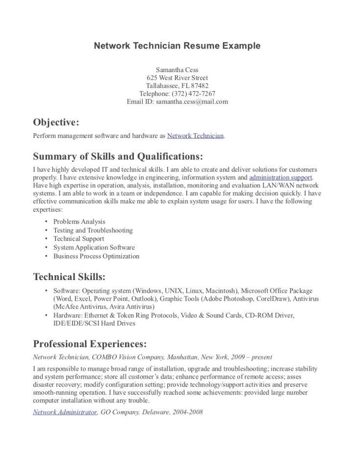 Mechanic Resume Template. Office Technician Resume Sample ...