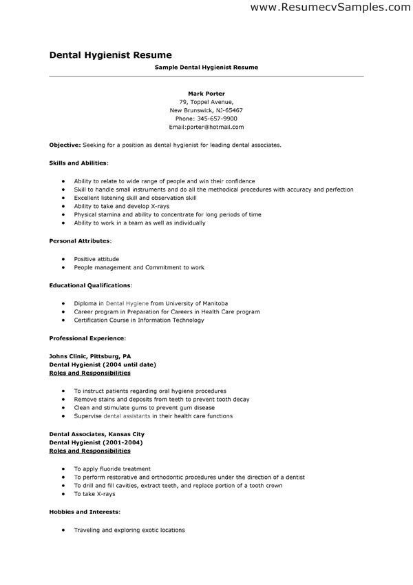 dental resume examples template online hygienist assistant ...