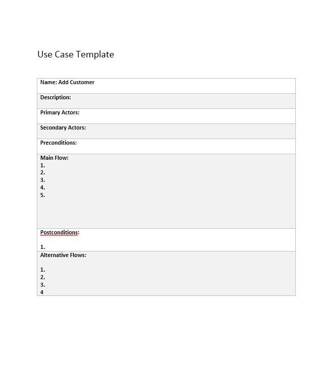 43 Free Use Case Templates & Examples (Word, PDF) – Free Template ...