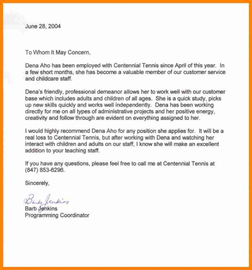 10+ reference letter from previous employer | job resumed
