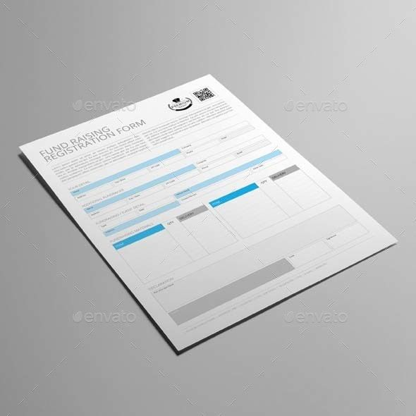 Fund Raising Registration Form Template by Keboto | GraphicRiver
