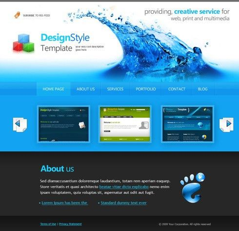 Online Free Website Templates by webguru16 on DeviantArt